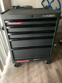 Black and gray craftsman tool chest