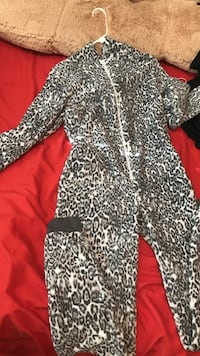 black and white leopard onesie with hood North Las Vegas, 89084
