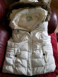 Antique White Ladies Hooded Vest Victoria
