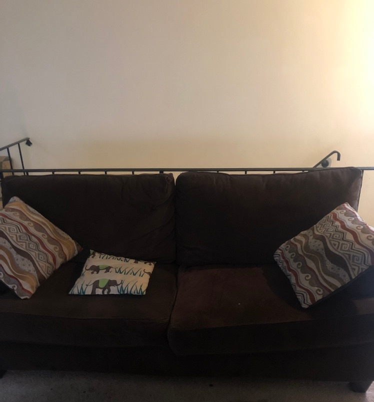black fabric 3-seat sofa, used for sale  Norfolk