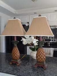 two white and brown table lamps North Miami Beach, 33162