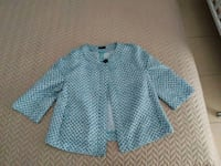 Camicia button-up blu e bianca 7424 km