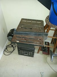 Top portion table saw