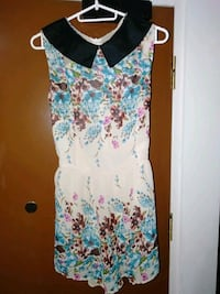 white, blue, and pink floral sleeveless dress Singapore, 821313