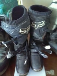 pair of black Fox Racing leather motocross boots