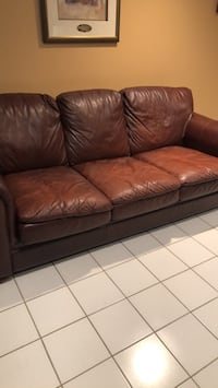 brown leather 3-seat sofa King, L7B 1K2