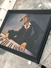 Wall art Jazz Piano player frame-Must sell today MOVING Coquitlam, V3J 0B8