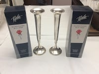 Silver Plated Bud Vases (x2) Courtice