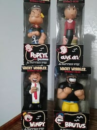 Popeye The Sailorman, Olive Oyl, Wimpy, and Brutus bobble-head boxes Pomona, 91768