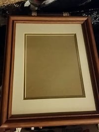 brown, white, and gray wooden picture frame