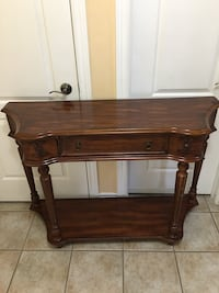 brown wooden 2-drawer table Mississauga, L5W 1J7