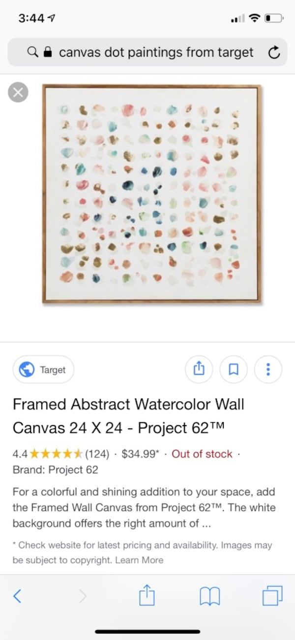 Project 62 - Framed Abstract Watercolor  3029abb7-3517-47ab-add0-959afaf195f1