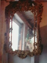 brown wooden framed wall mirror Troy, 12180