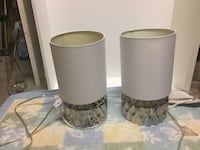 two gray-and-white table lamps Burnaby, V3N 0E6