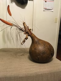 Hand carved gourd decoration