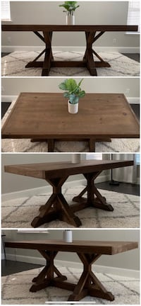 6FT x 3FT Solid Wood Rustic Farmhouse Dining Table