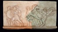 Warrior and Slaved Greek Wall Relief Scottsdale