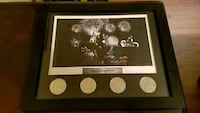 Framed Disney world commemorative coins  2290 mi
