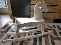 White wooden rocking horse for toddlers  Burnaby, V3N 1Y9