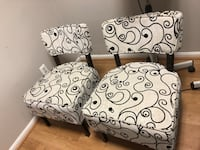white and black floral padded sofa chair Parkville, 21234