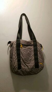 gray and brown leather tote bag Brooklyn, 11213