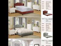 white and brown bed set Costa Mesa, 92627