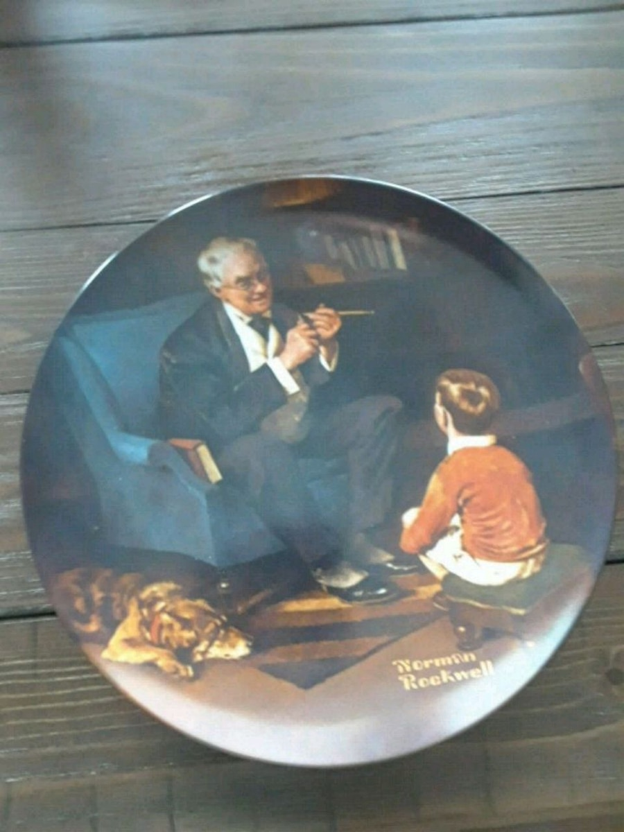 Photo Norman Rockwell Collector Plate