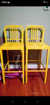 2 yellow counter height chairs Baltimore, 21214