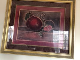 Pomegranate picture in frame