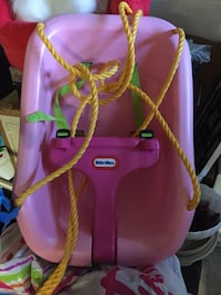 pink and purple Little Tikes swing chair Brooklyn, 21225