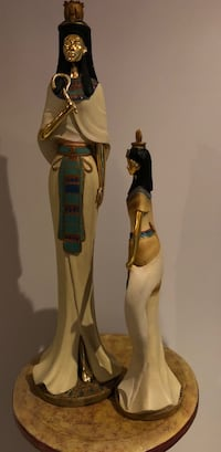 Egyptian Golden Statues ( male and female)