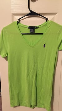 Women's green polo by ralph lauren v-neck t-shirt Lancaster