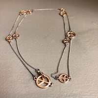 Costume jewelry necklace, Peace sign (Tribeca) New York, 10013