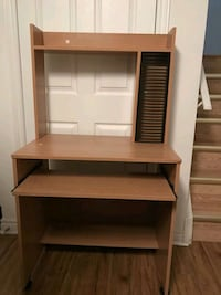 brown wooden computer desk with hutch Toronto, M4X