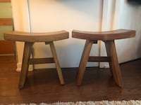 Two teak stools from bed bath and beyond Toronto, M5C 1K9