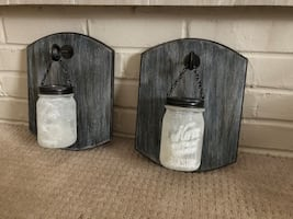 Candle holder wall decoration