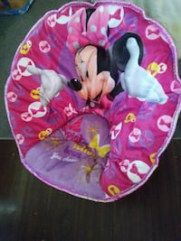 pink Minnie Mouse moon chair