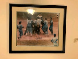"""16"""" x 20"""" Autographed & Framed Picture of George Brett Pine Tar Game"""