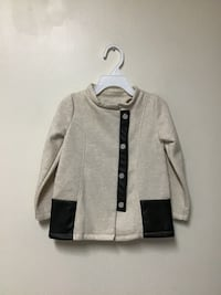 Girls MAX STUDIO Cotton/polyester beige jacket w/faux leather size-2T Manasquan, 08736