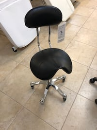 Brand new hydraulic saddle rolling stool with backrest