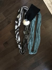 Infinity scarves and toque.  Lot sale, will not split.  Pick up bloor and islington only