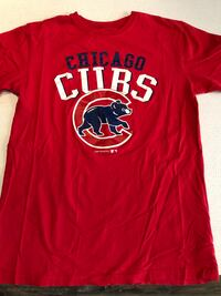 "MLB Chicago Cubs "" Cubby Bear "" Logo Red Tee Shirt Adult Size Med Plainfield, 60544"