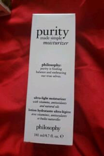 brand new philosophy  moisturizer