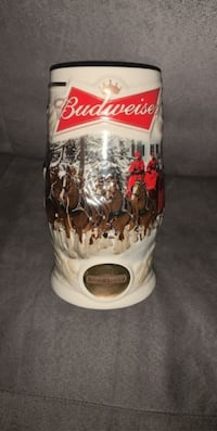 Budweiser 2014 Holiday Beer Stein-Certificate Of Authenticity Included