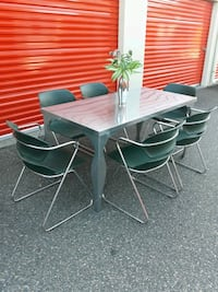 Stainless Steel Dining/Kitchen Table Set
