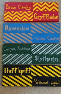 Hogwarts house signs Morgantown