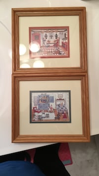 two brown wooden photo frames 710 mi