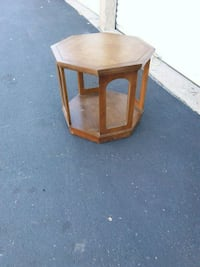 brown wooden framed glass top side table St. Peters, 63376