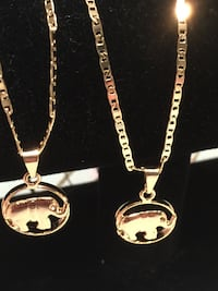 """Elephant Pendant With Chain Necklace  18"""" 2mm"""