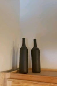 2 Black decorative Bottle's  Aurora